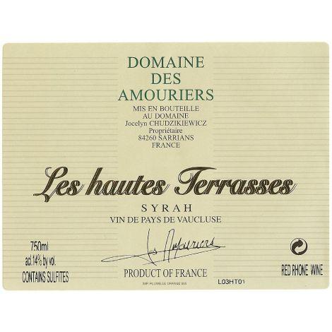Domaine des Amouriers – Les Hautes Terrasses ,  75 cl.