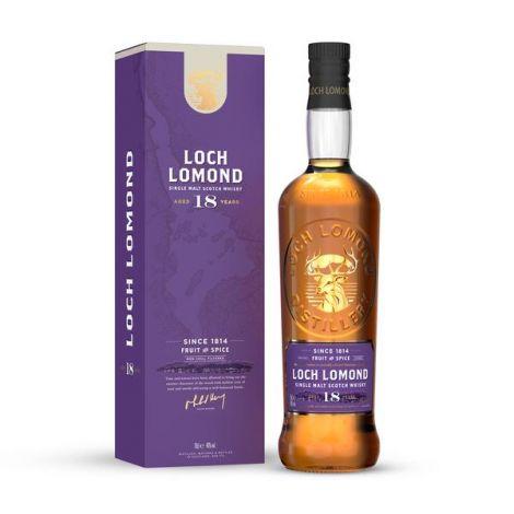 LOCH LOMOND - Aged 18 Years - Single Malt Scotch Wishky, 75cl.