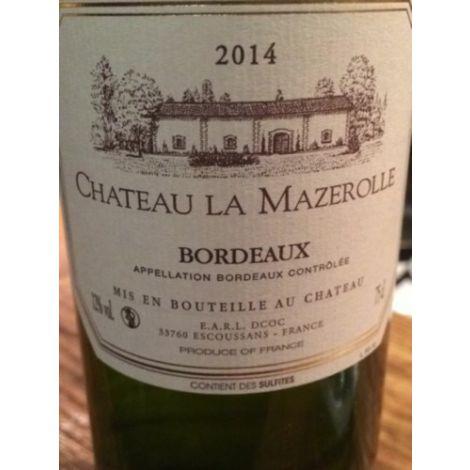 Ch. La Mazerolle - Bordeaux Blanc AOC, 75cl